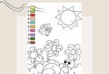 Color By Number Worksheets For Kindergarten 6