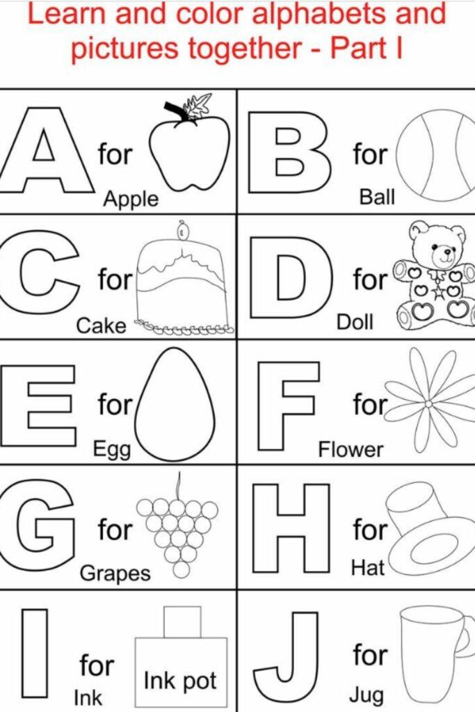 Kindergarten Alphabet Worksheets 5