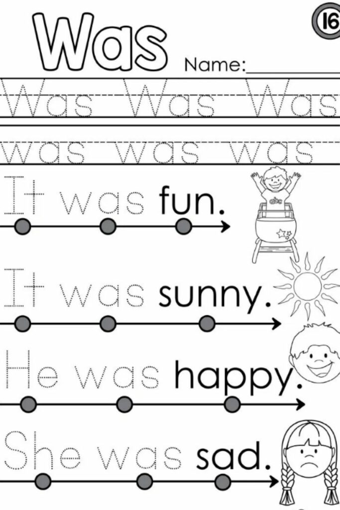 Kindergarten Language Arts Worksheets 3