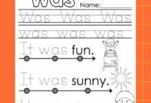 Kindergarten Language Arts Worksheets 4