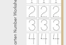 Kindergarten Number Worksheets 2