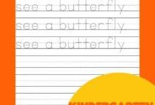 Kindergarten Writing Sentences Worksheets 6