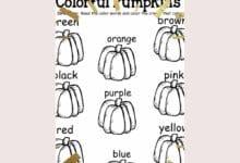 Making Halloween Preschool worksheets 4
