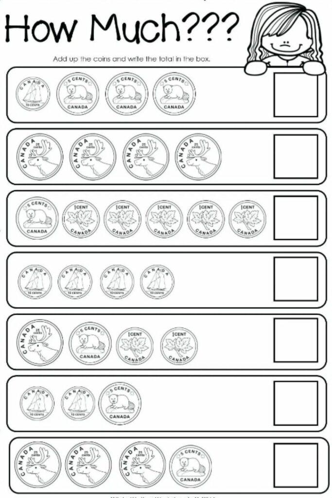 Money Worksheets For Kindergarten 1