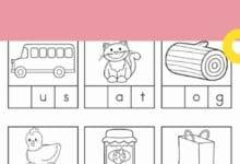 Printable Kindergarten English Worksheets 4