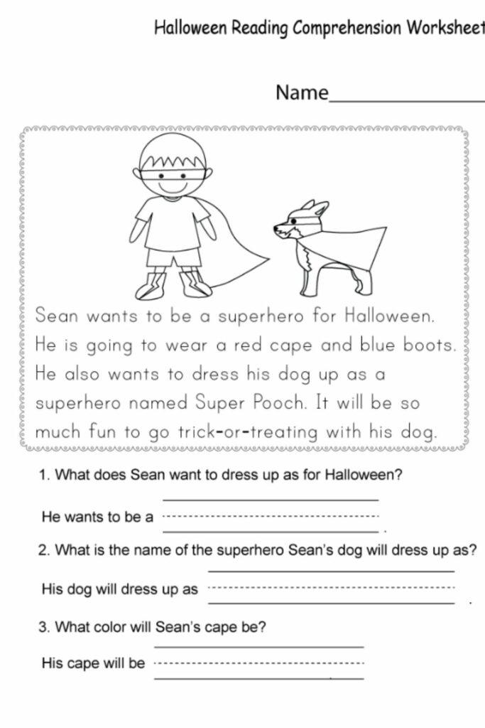 Reading Comprehension Kindergarten Worksheets 5