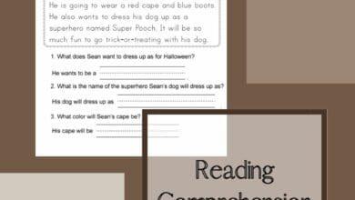 Reading Comprehension Kindergarten Worksheets 6