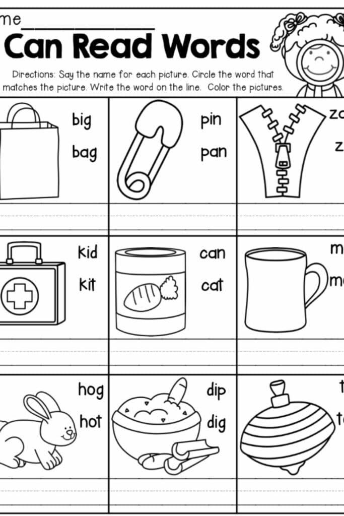 Reading Worksheets For Kindergarten 1
