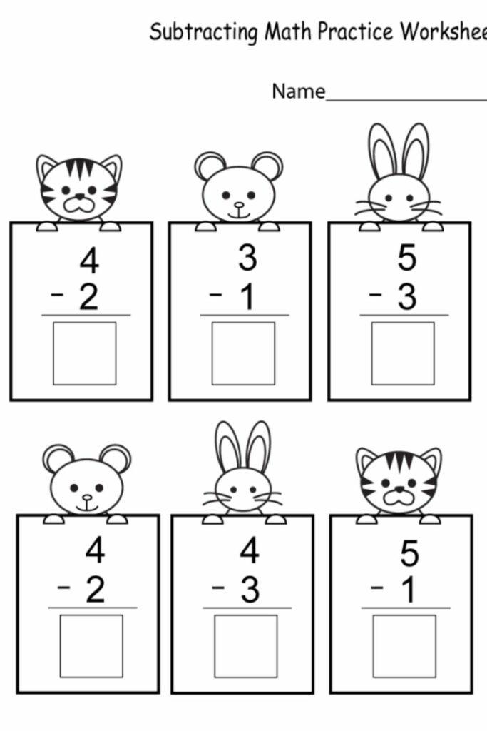 Subtraction Worksheets For Kindergarten 1
