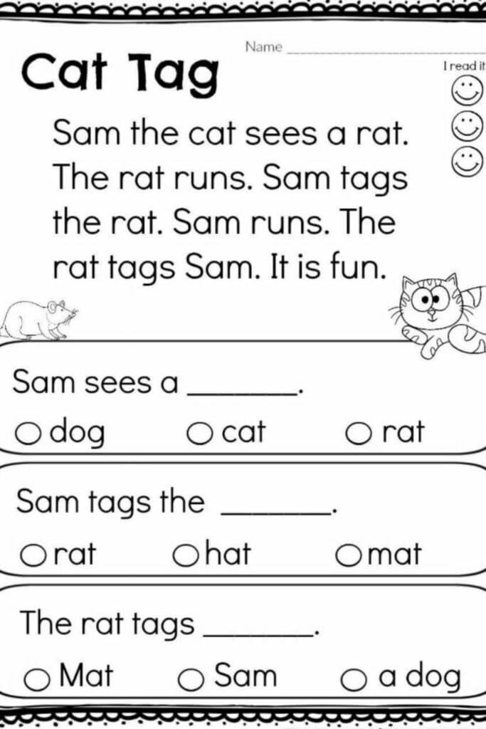 Using Reading Kindergarten Worksheets To Build A Foundation For Early Reading Success 3