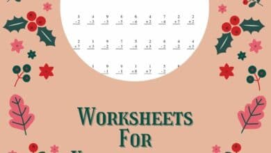 Worksheets For Kindergarten Students 4