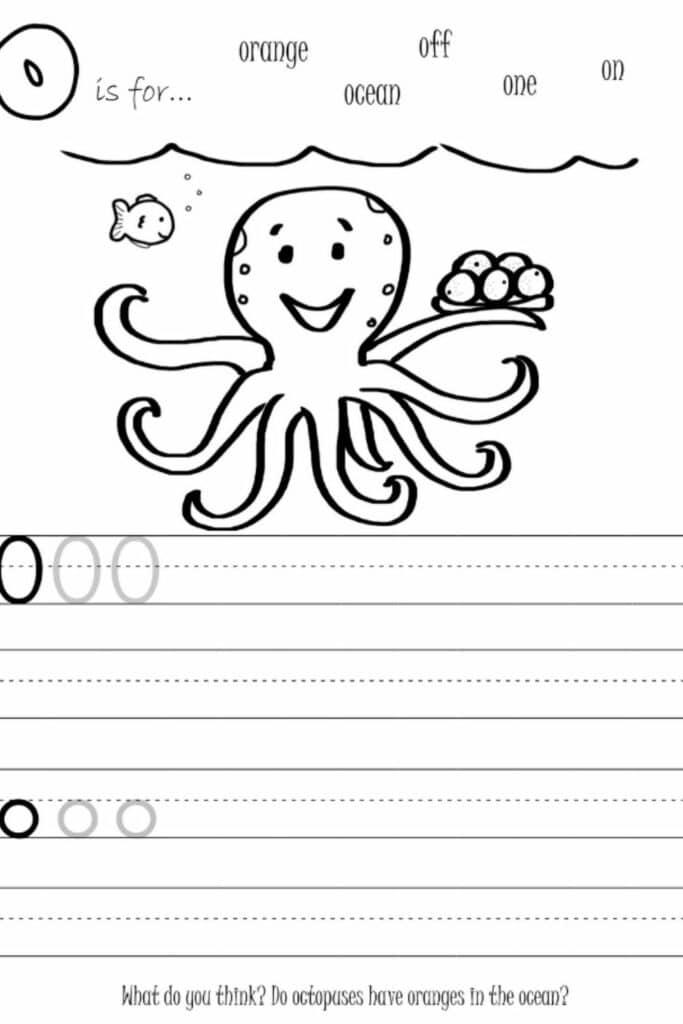 Writing Worksheets For Kindergarten Students 1