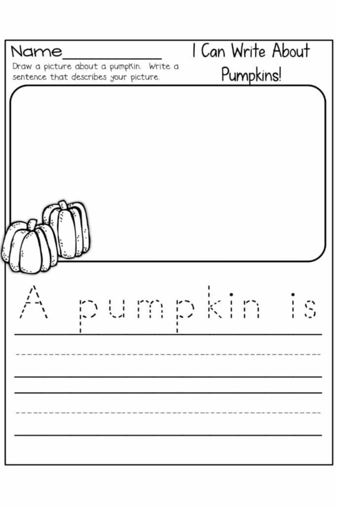 Writing Worksheets For Kindergarten Students 3