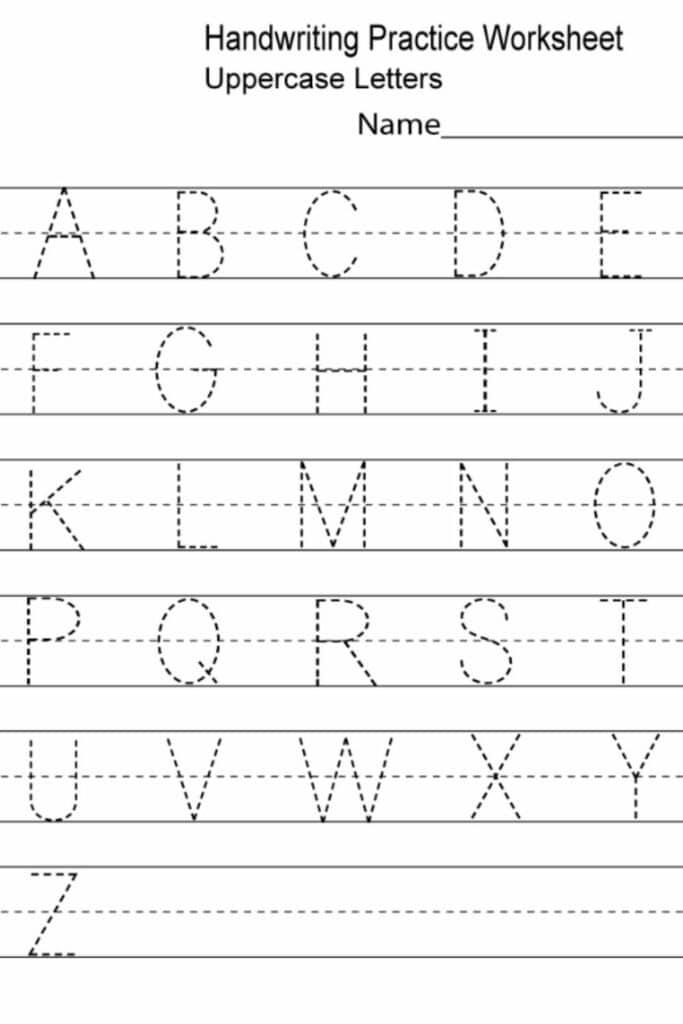 kindergarten handwriting worksheets 3
