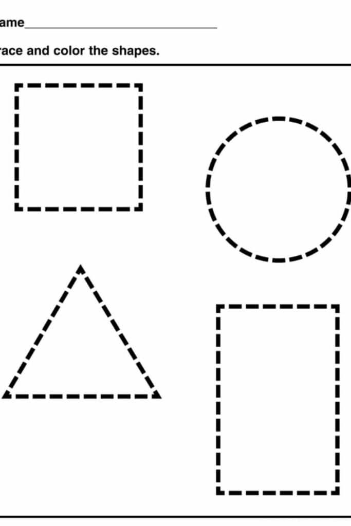 shapes worksheets for kindergarten 5