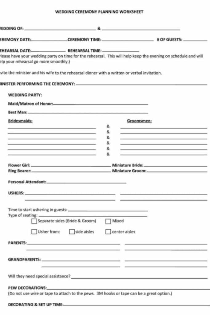 A Funeral Planning Worksheet Will Organize the Funeral Process 1