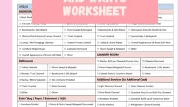 A Productivity Checklist For Business Needs and Wants Worksheet 1