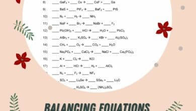 Balancing Equations Practice Worksheet Answer Key 4