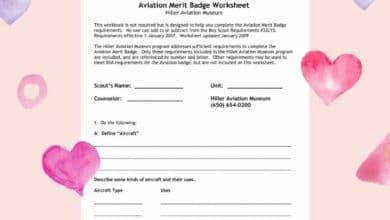 Cooking Merit Badge Worksheets 2