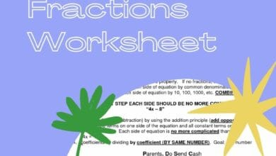 Equations With Fractions Worksheet 6