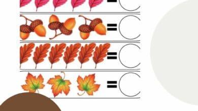 Fall Preschool Worksheets 2
