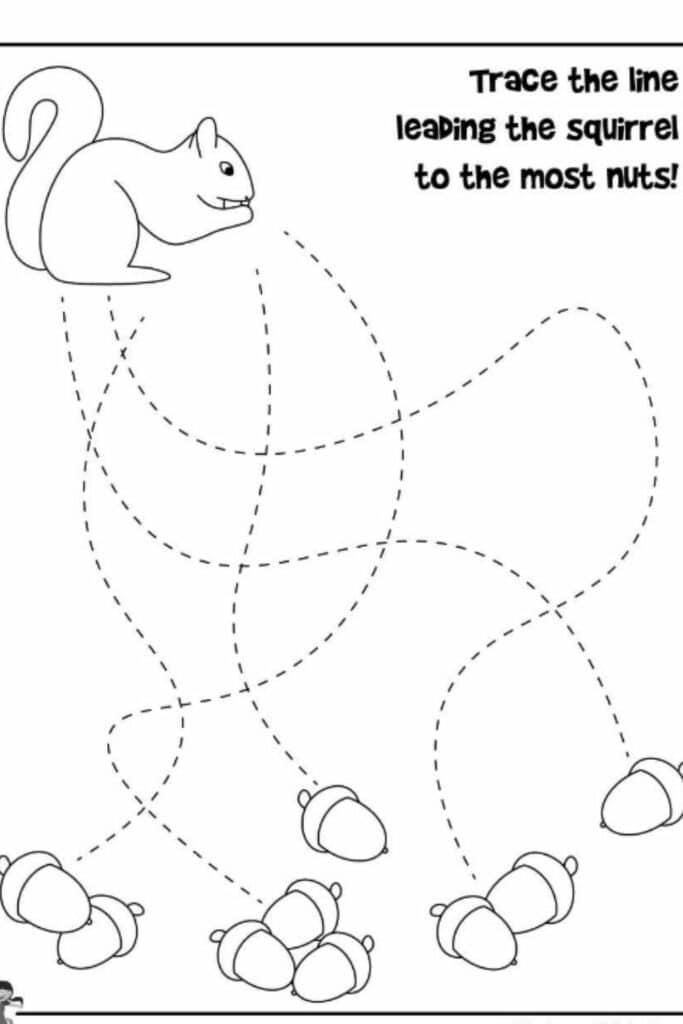 Fall Preschool Worksheets 5