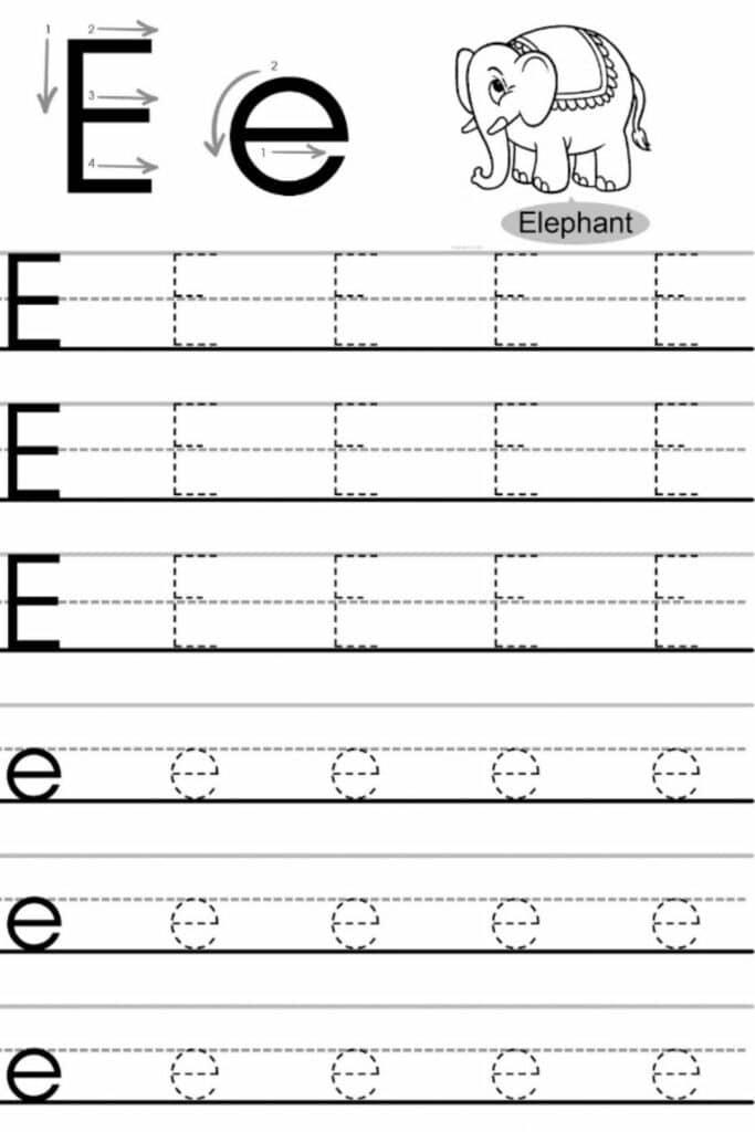 Free Printable Letter E Preschool Worksheets 1