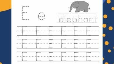 Free Printable Letter E Preschool Worksheets 6