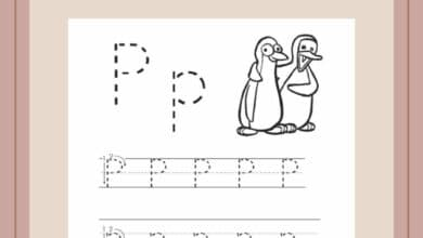 Free Printable Sheets Letter P For Preschool 2