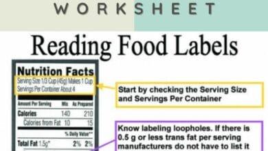 Free Reading Food Labels Worksheet 4