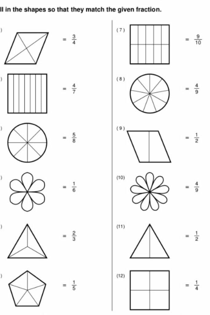 How a Fraction Review Worksheet Works 1