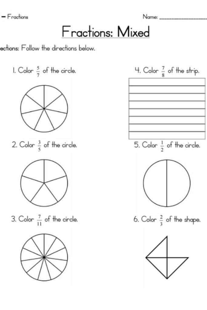 How a Fraction Review Worksheet Works 3