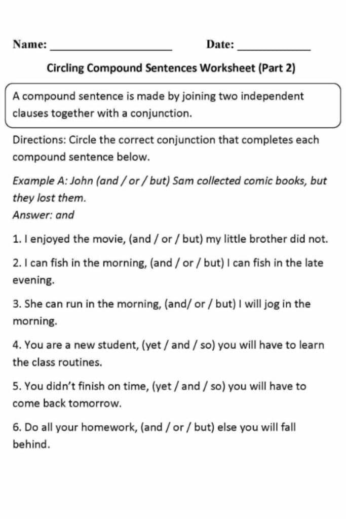 How to Use a Worksheet With Answers For Sentence Fragments and Run-ons 3