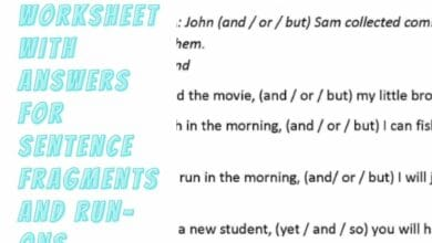How to Use a Worksheet With Answers For Sentence Fragments and Run-ons 4