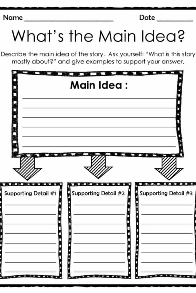 Identifying The Main Idea With First-Gradient Worksheets