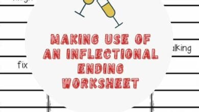 Making Use of an Inflectional Ending Worksheet 4