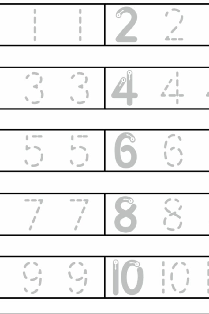 Number Mapping Worksheets 1-10 3