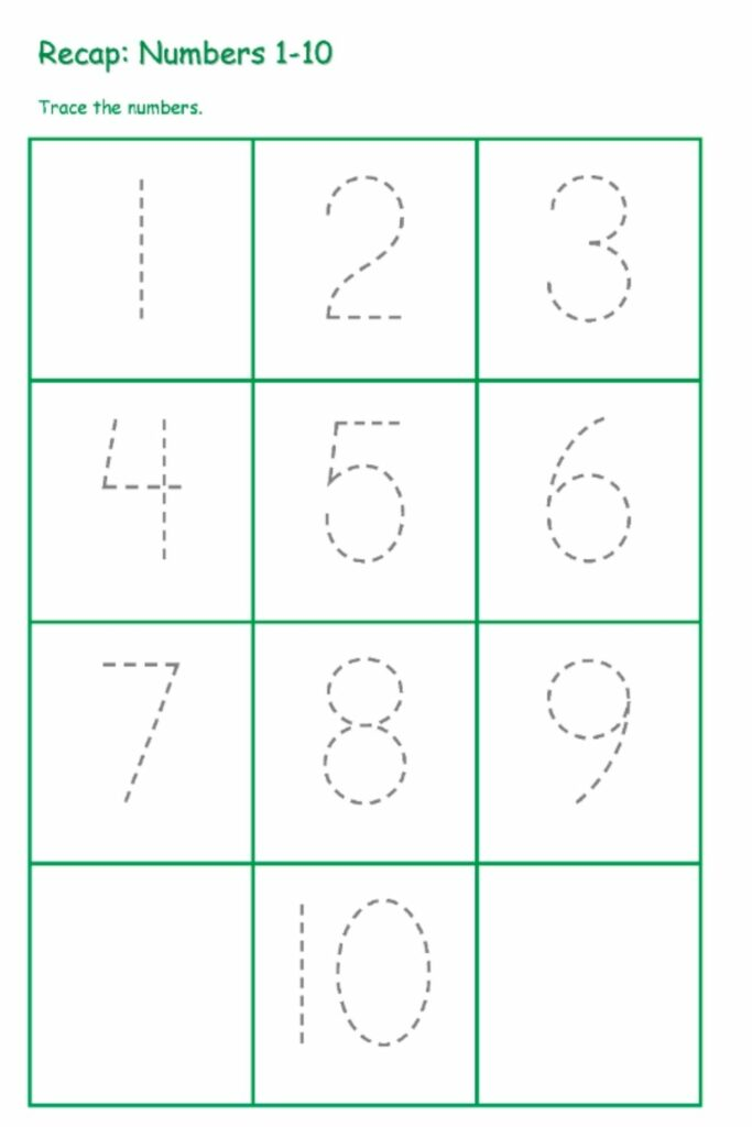Number Mapping Worksheets Totally Complimentary 3