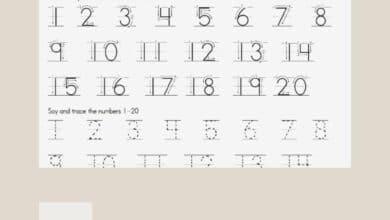Number Tracing Worksheets Free Printable 2