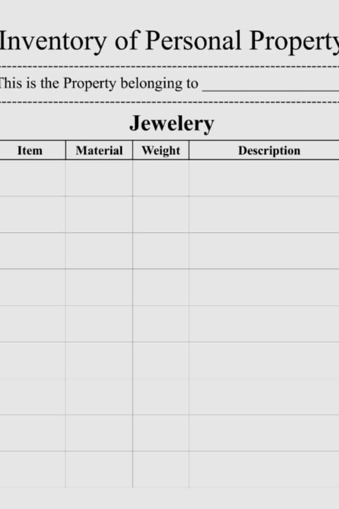 Personal Inventory Worksheet 3