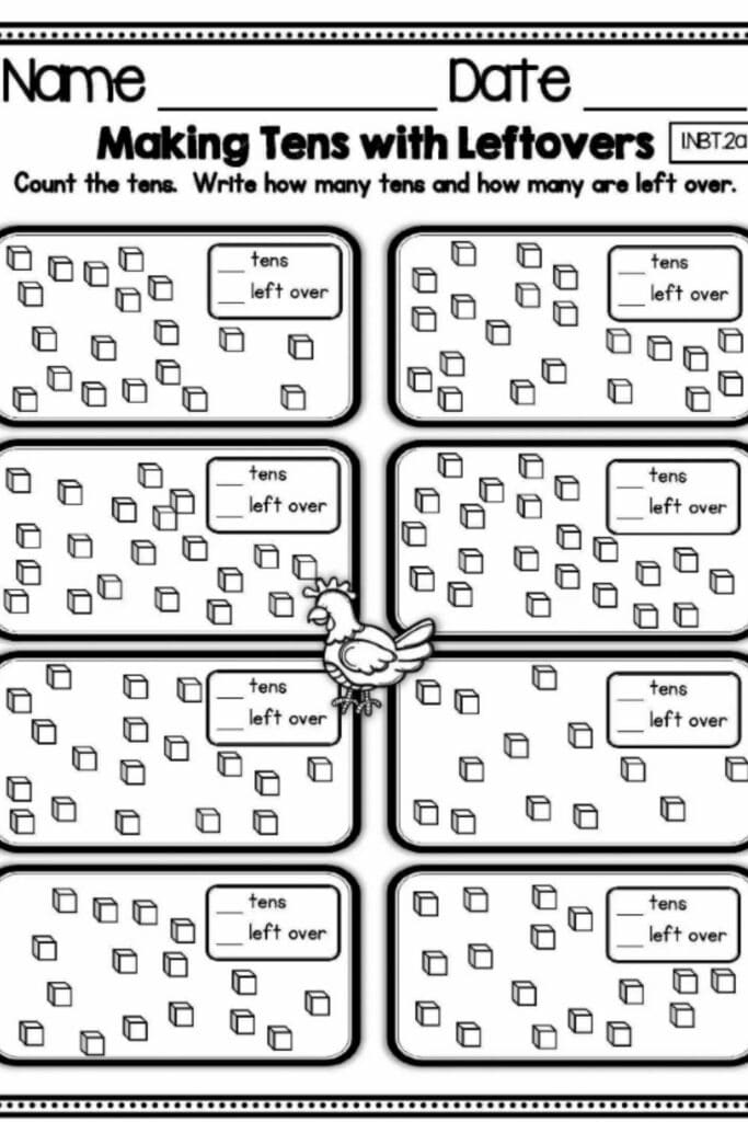 Place Value First-grade Worksheets 5