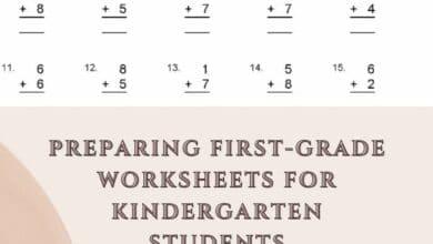 Preparing First-grade Worksheets For Kindergarten Students 4