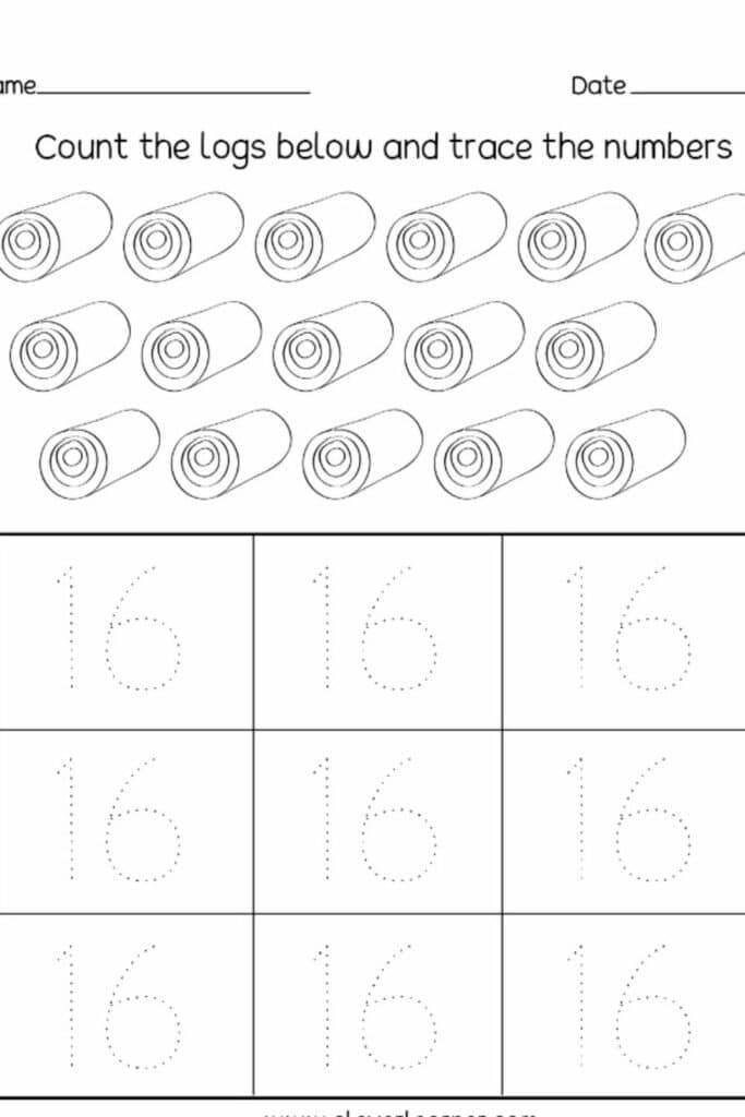 Preschool Worksheets Checking & Number Mapping Worksheets image 1