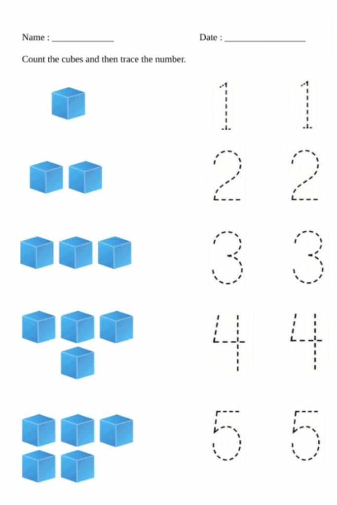 Preschool Worksheets Checking & Number Mapping Worksheets image 3