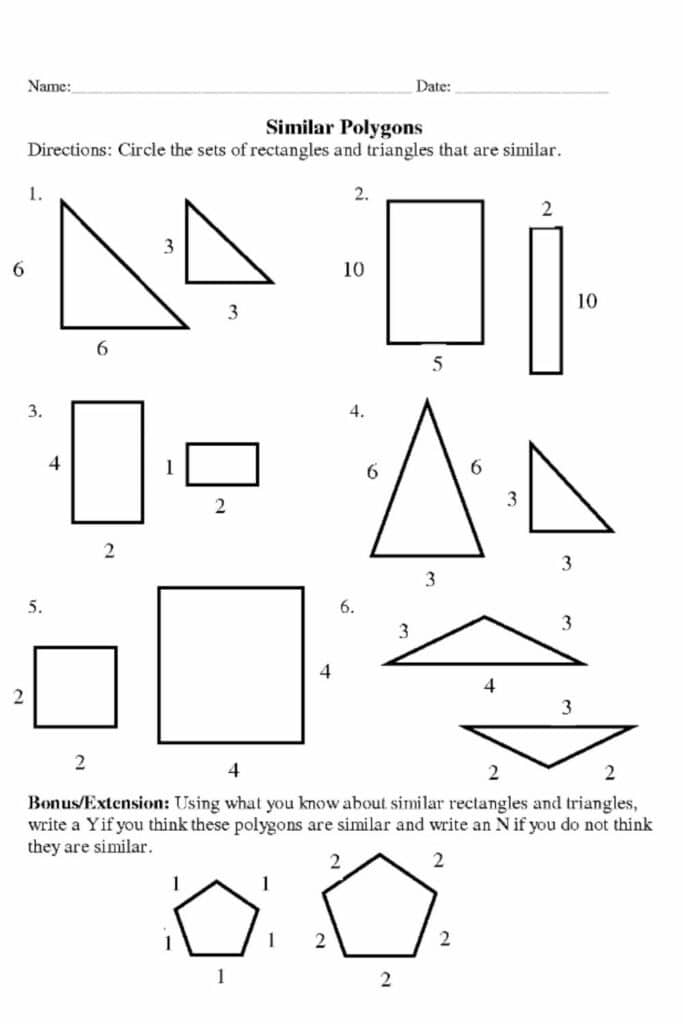 Problem-solving With Similar Figures Worksheet Answers 5