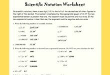 Scientific Notation Worksheets With Answers 2