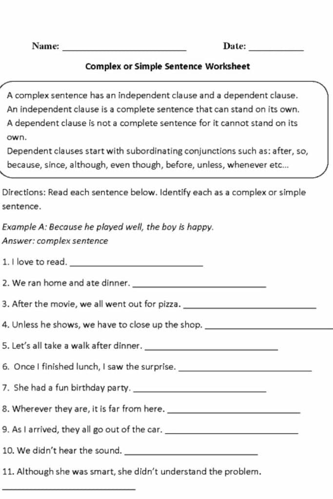 Teaching Students About Diagram Sentence Worksheets 5