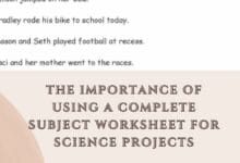 The Importance of Using a Complete Subject Worksheet for Science Projects 4