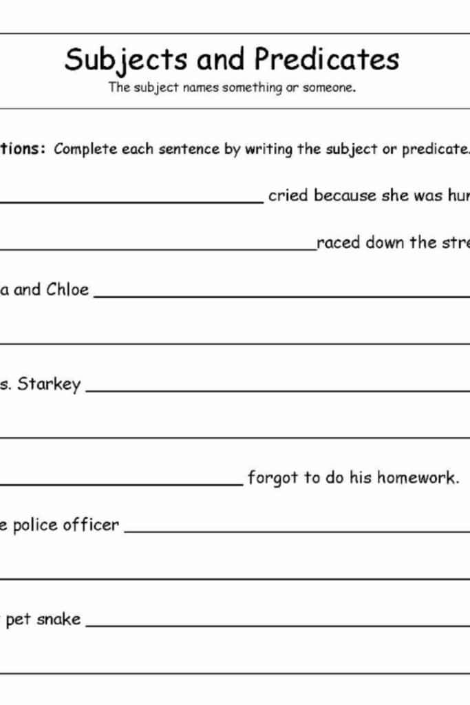 The Importance of Using a Complete Subject Worksheet for Science Projects 5