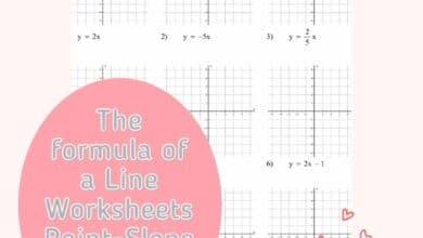 The formula of a Line Worksheets Point-Slope Develop 6